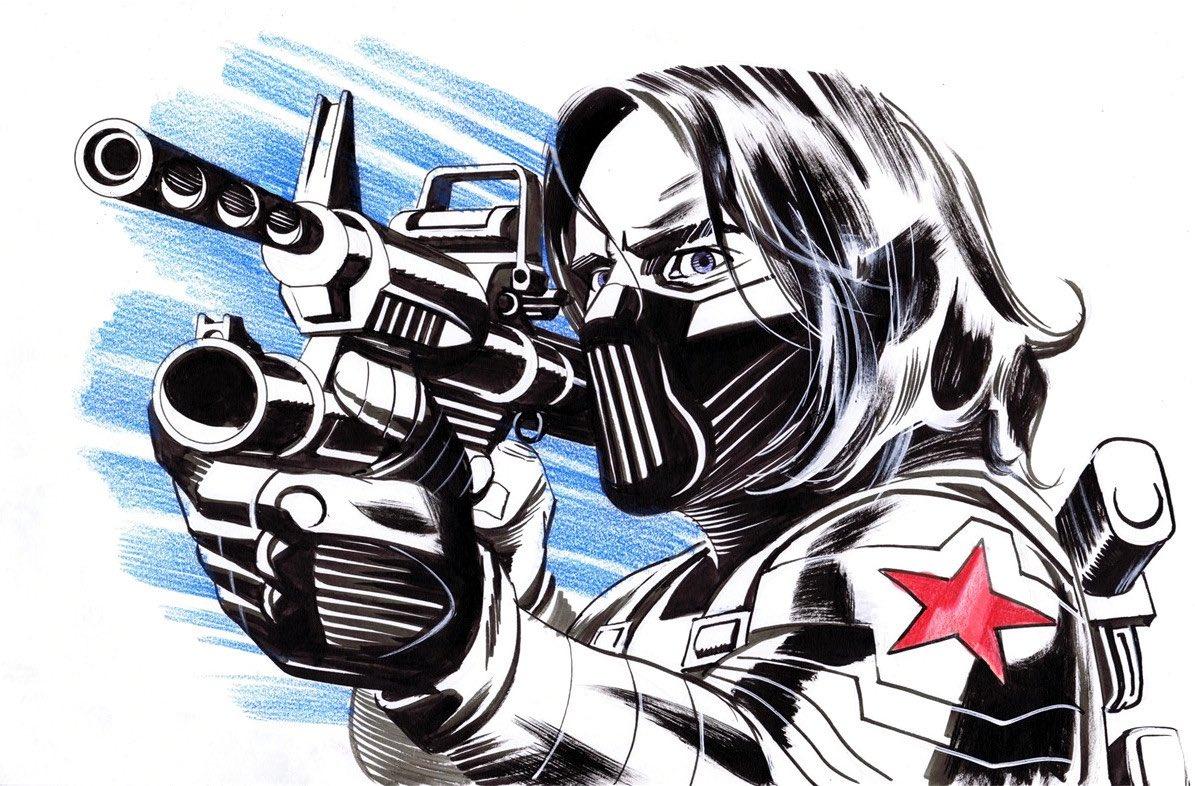 The Winter Soldier by Steve Rude @steverudeart