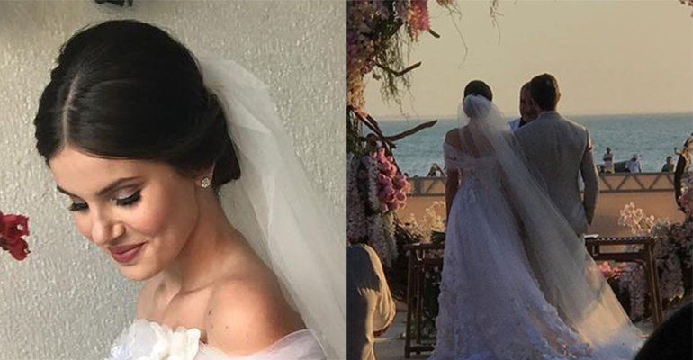 Camila Queiroz e Klebber Toledo se casam durante o pôr do sol em Jericoacoara; saiba tudo -> https://t.co/ccimKyT3gC