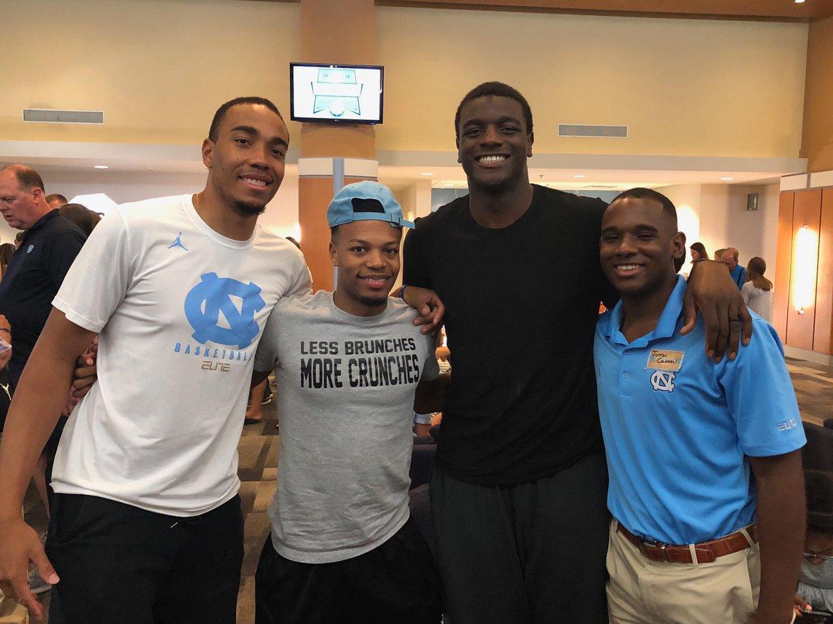 Brice, Nate, Joel and J-Cole back together at the barbeque #CarolinaFamilyWknd