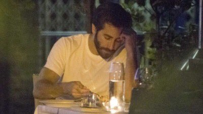 Jake Gyllenhaal sadly eating alone is how I'm feeling right about now