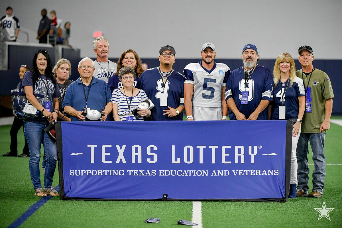 Dallas cowboys on twitter a lucky group of texaslottery winners tour of thestarinfrisco meet greet with a cowboys alumni player broke down film with bryanbroaddus and got to view practice from their own private m4hsunfo