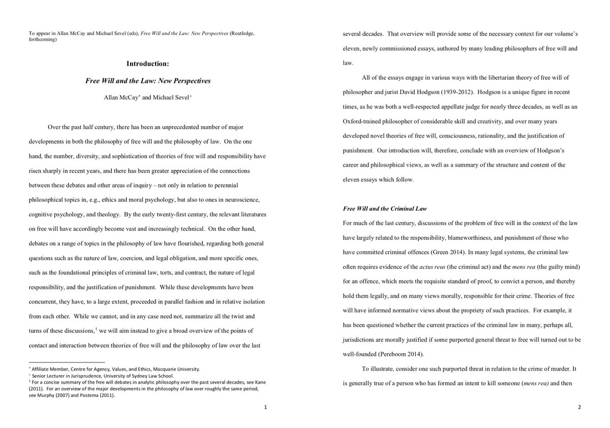 free will and determinism philosophy essay