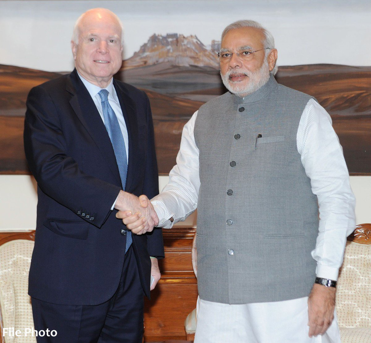 3840ffe28 Deeply saddened by the demise of Senator John McCain. People of India join  me in