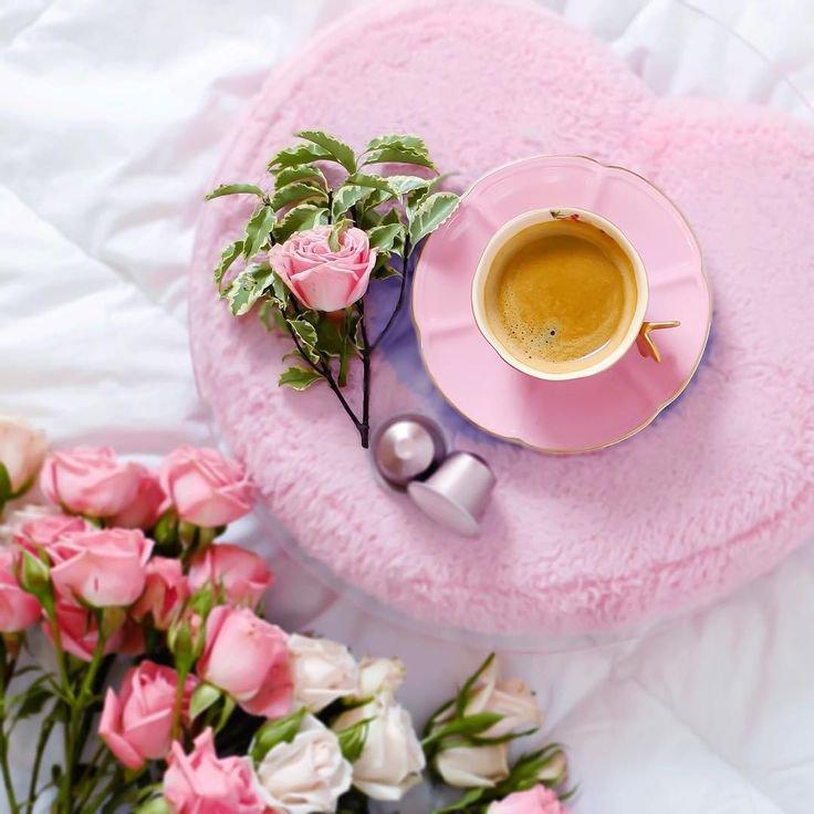красивые картинки с кофе и цветами доброе обложке