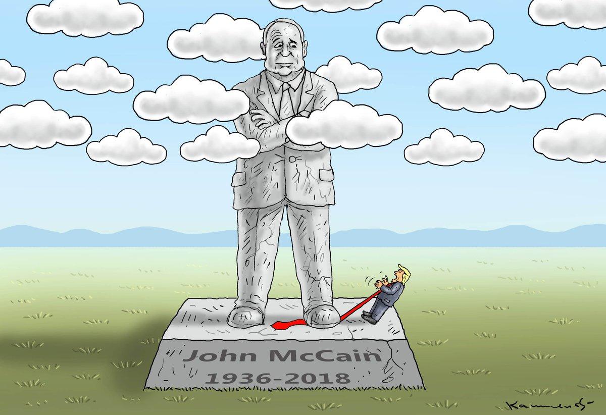 Трамп не планує відвідувати церемонію прощання з Маккейном - Цензор.НЕТ 2860
