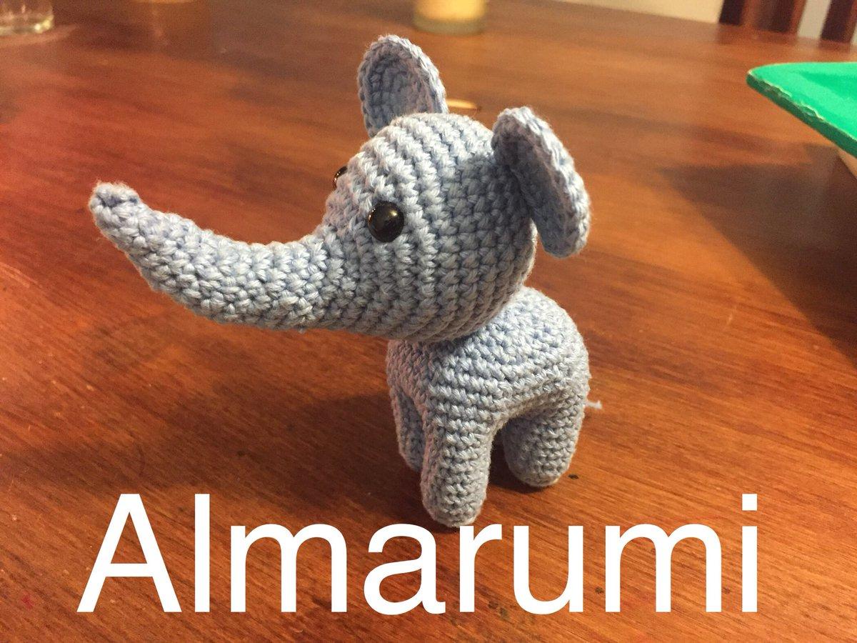 Elefante amigurumi crochet lindo bebé elefante perfecto forr   Etsy   900x1200