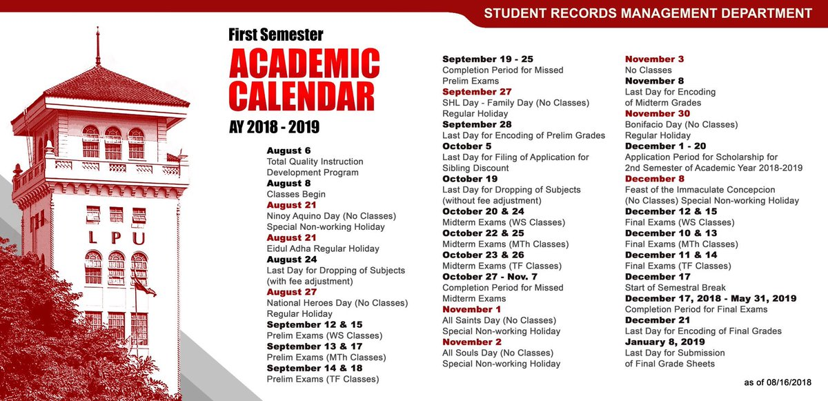 Sbu Academic Calendar.Lpu Updates Tagalpu Twitter