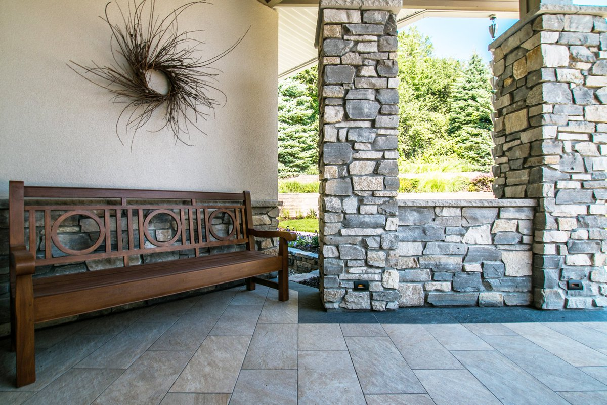 Holding close our beloved outdoor spaces as we wrap up the last weekend of August  😭 . . . #outdoorspaces #stonework #porch #woodwork #August #michiganweather #michigansummer #summer #architects #interiordesgners #interiordesign #architecture #viadesigninc