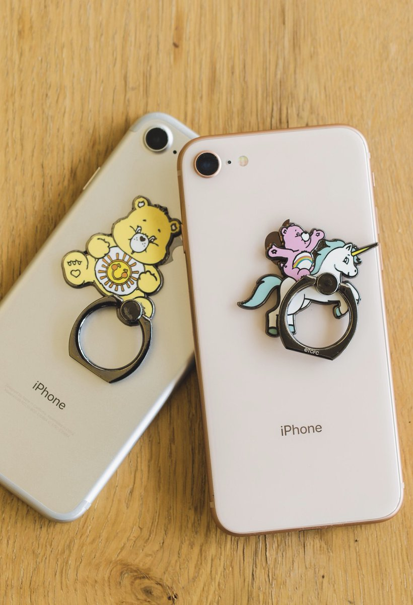 #PINTRILL x @CareBears ☀️ Weve teamed up to bring a new product to you for our #CareBears capsule. Customize your phone with these cell phone rings 💖 Releasing Tuesday at 11am EST via pintrill.com