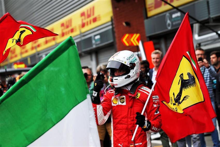 Sebastian Vettel Ferrari BelgianGP 2018