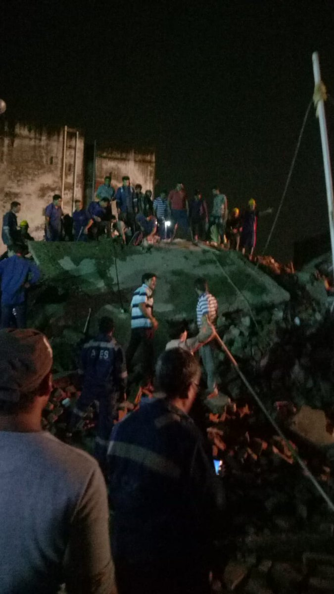 Four storey building collapses in Odhav area of Ahmeadbad, 3 rescued, more feared trapped under rubble