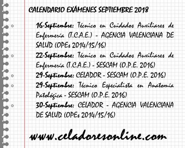 Calendario Exámenes Oposiciones Sanitarias - Septiembre 2018 Dlj2GShXgAUL0jb