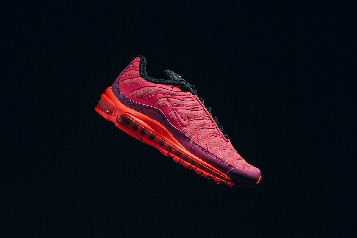 ICYMI  Nike Air Max 97 Plus  Racer Pink  restocked in all sizes via Finish  Line    http   bit.ly 2NhHDE2 pic.twitter.com f9sYj2P7By b0e484d69
