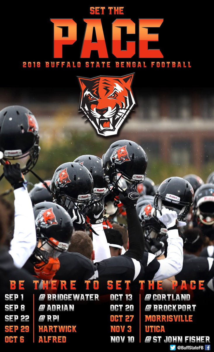 """buffalo state fb on twitter: """"game week is upon us! here's our"""