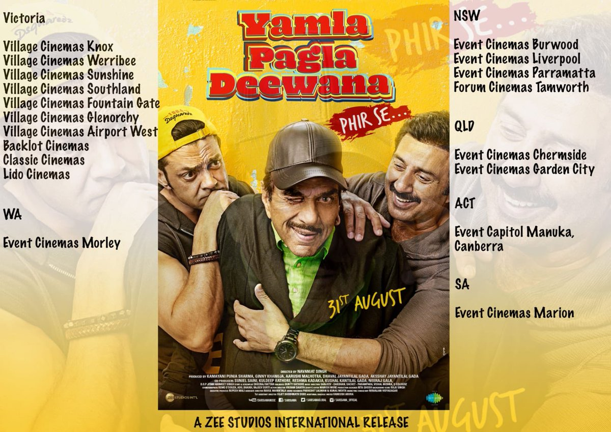 Tune India Radio Tuneindiaradio Twitter Power Cord Wiring Diagram Jayco Swift Get Ready For Laughter With Yamla Pagla Deewana Phir Se Releasing Australia Wide On 31st Of August At Event And Village Cinema