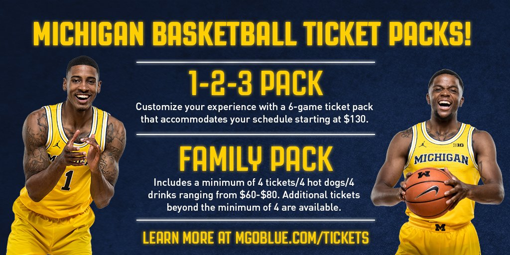 Michigan Tickets On Twitter Umichbball Ticket Packs Go
