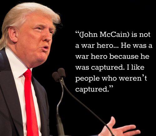 #GetFuck #TrumpCoward #McCain