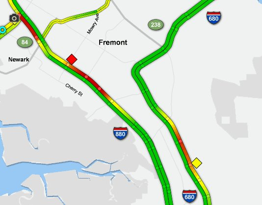 Abc7 Traffic Map.Abc7 News On Twitter Breaking I 880 In Fremont Is Closed Near