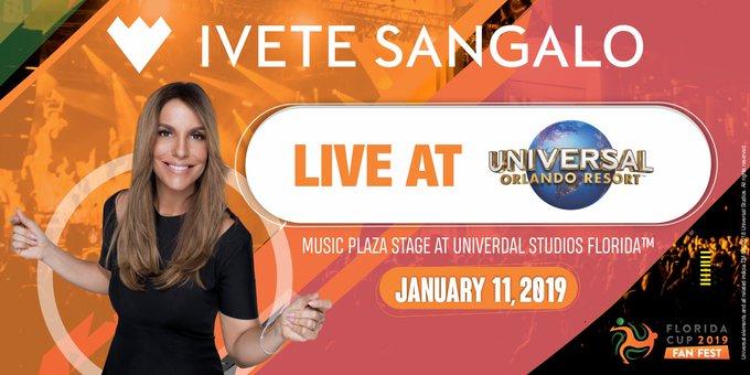 Ivete Sangalo at Florida Cup Fan Fest #IveteNaFloridaCup