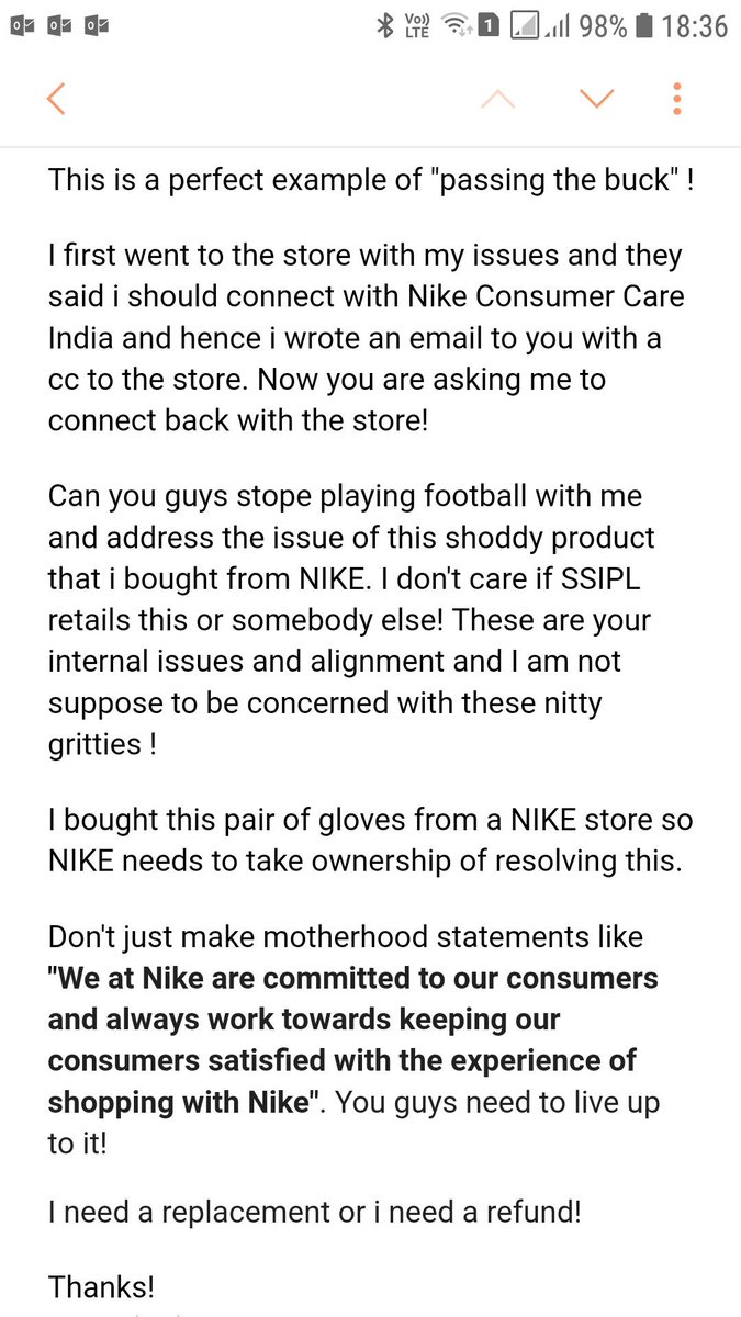 Nike Com On Twitter Thanks For Confirming This In This Case We Recommend You To Send Our Consumer Service Department An Email On Consumercare India Nike Com If You Ve Got Any Other Questions Please Let Me