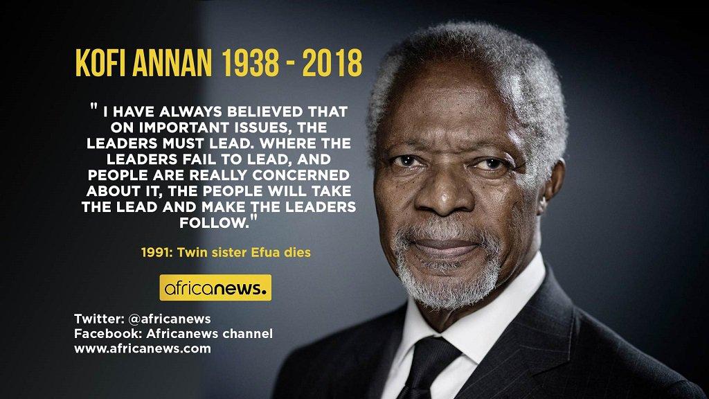 Africanews Auf Twitter Quote Of The Day Kofi Annan