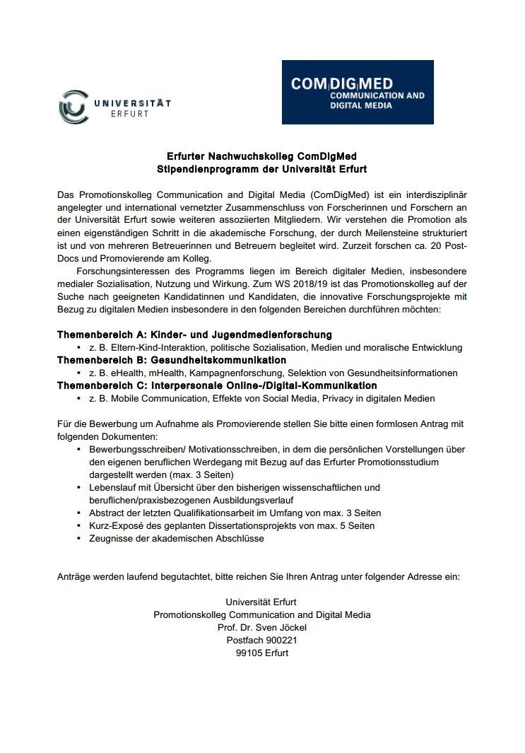 jckl rossmann rssler focus kids media health interpersonal comm deadline 30092018 httpswwwuni erfurtdecomdigmed uni_ef jobs - Rossmann Online Bewerbung