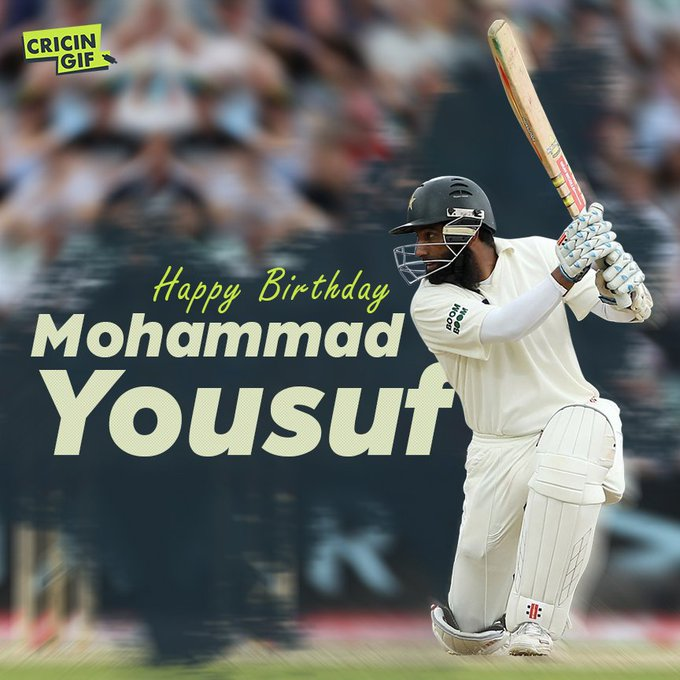 Happy Birthday to one of the most elegant batsman from Pakistan, Mohammad Yousuf!
