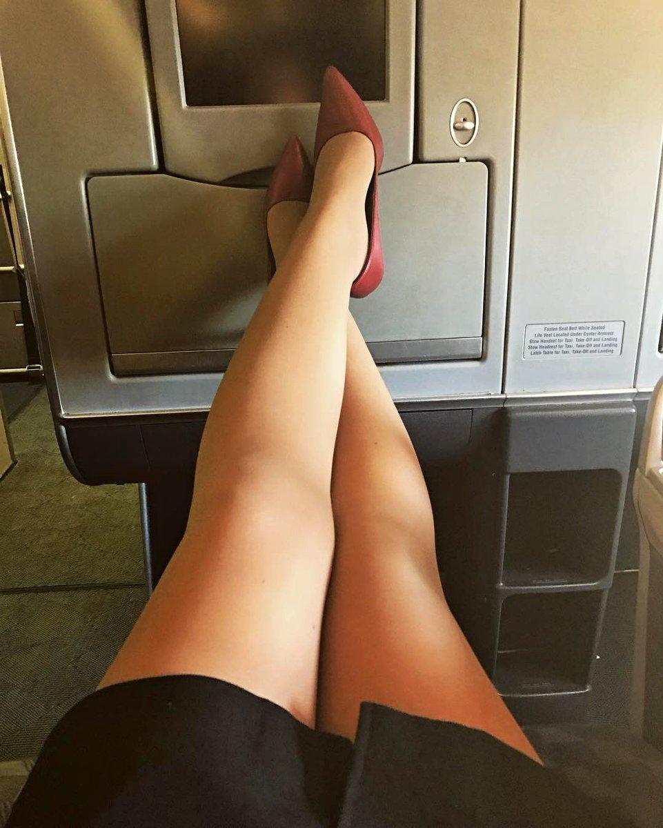 стюардессы показывают ножки даром говорят