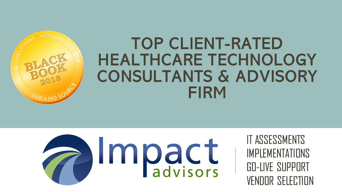 Black Book Research On Twitter Impact Advisors Earns Top Client Honors For Healthcare It Assessment And Vendor Selection Engagements Black Book Survey Https T Co Abkqczksbf Impactadvisors Itassessment Vendorselection Healthcareit Consulting