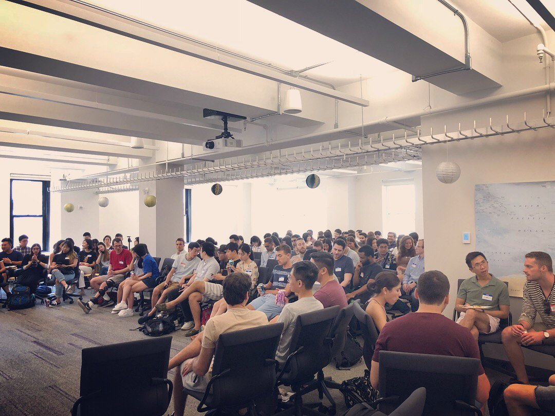 Chairs full of future data scientists! Let the fun begin! #NYUorientation #datascience