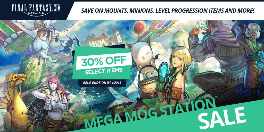 Mog Station Login >> Final Fantasy Xiv On Twitter Announcing The Mega Mog Station Sale