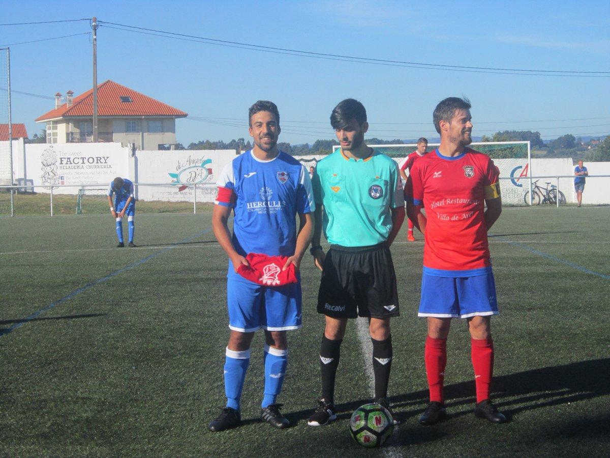 ADR Numancia de Ares. Aficionados 2018-2019. Numancia - Orillamar. Sorteo de Campos. Arbitro y Capitanes.