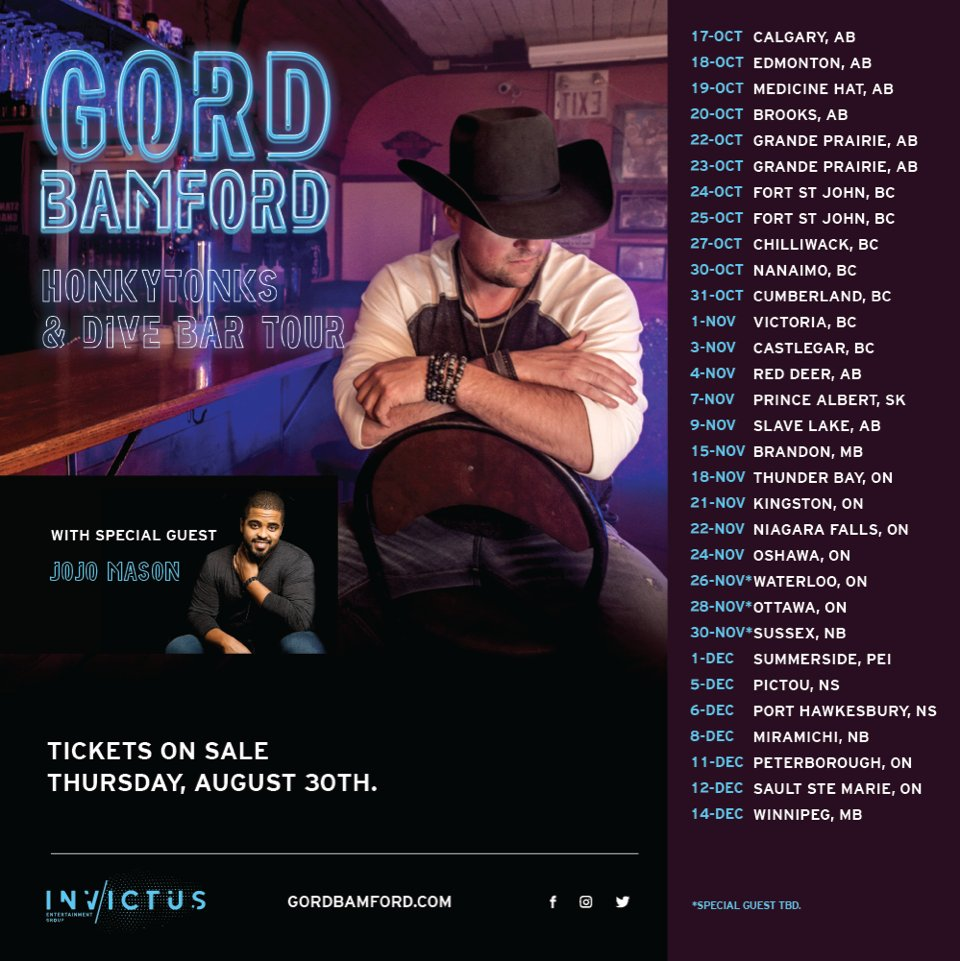 Image result for gord bamford divebar tour poster