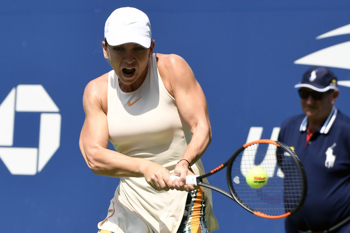 Top Seeded Simona Halep Eliminated In First Round Of Us Open Blue