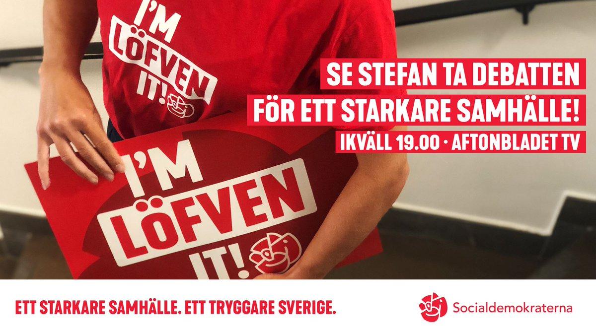 Var med och heja på Stefan Löfven när han tar kampen för ett starkare  samhälle och ett tryggare Sverige!pic.twitter.com kWsATugbU1 003dda81285d2