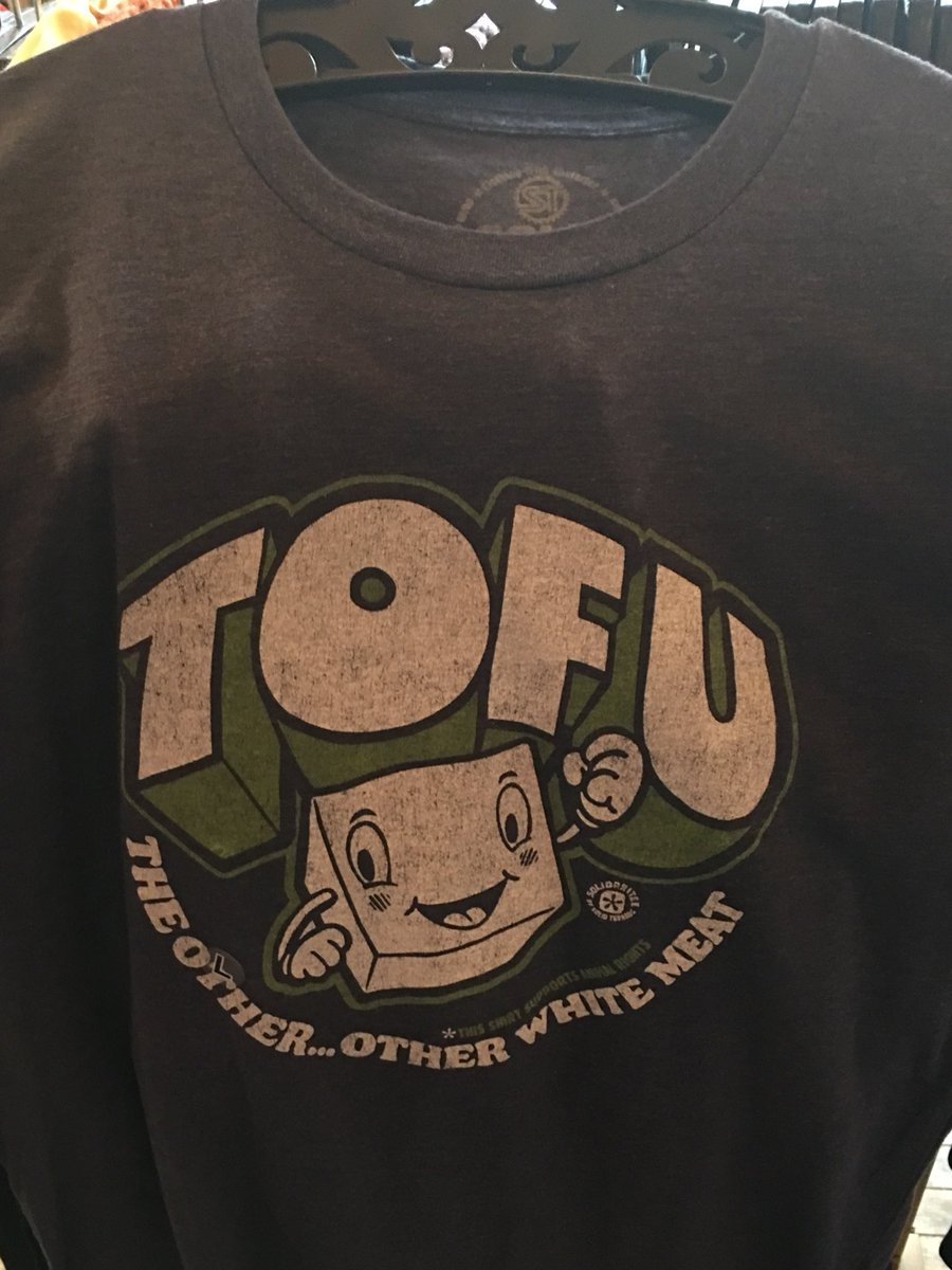 This shirt had to be mine. @MictheVegan #nonGMO #tofu #veganism #delicious #Facts https://t.co/G8AlvarWqL