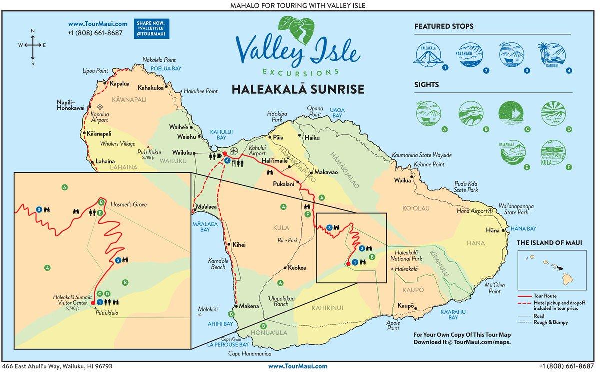 Maui Hawaii On Twitter Tour Maps Haleakala Sunrise Road To Hana Maui Volcanoes Https T Co Xwlp9cylnw Hanamauitour
