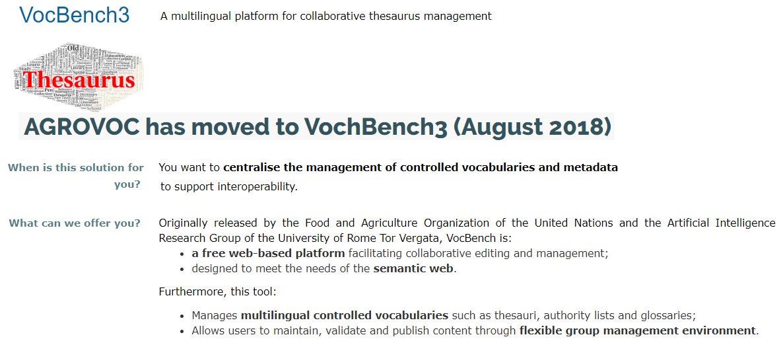 Etiqueta #vocbench en Twitter