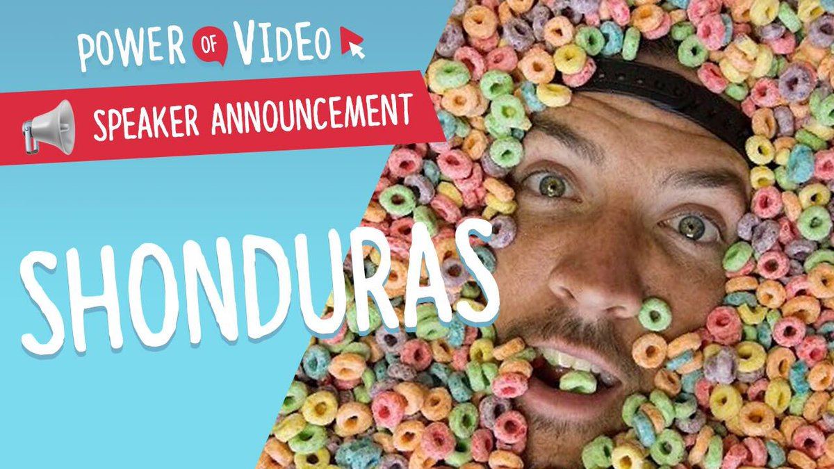 📢2018 SPEAKER ANNOUNCEMENT 📢  Yes, it's going to be THE BEST DAY EVER! We're stoked to welcome back the main man himself @Shonduras for his third Power of Video! #povbelfast  Tickets ➡️ https://t.co/jsu79flPoP https://t.co/7b9NAtf019
