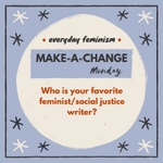 Image for the Tweet beginning: It's #MakeAChange Monday!   Who is