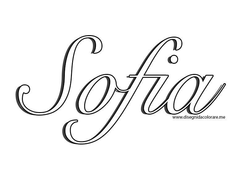 Disegni Da Colorare Auf Twitter Nome Sofia In Corsivo Httpstco