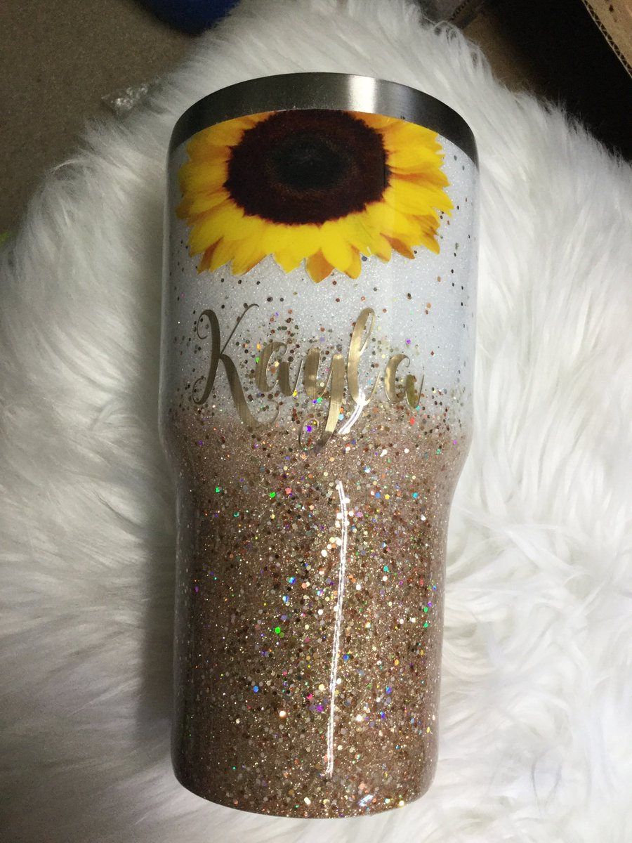Jamiesjars Sunflower Glitter Tumbler #tumbler #decal #cups