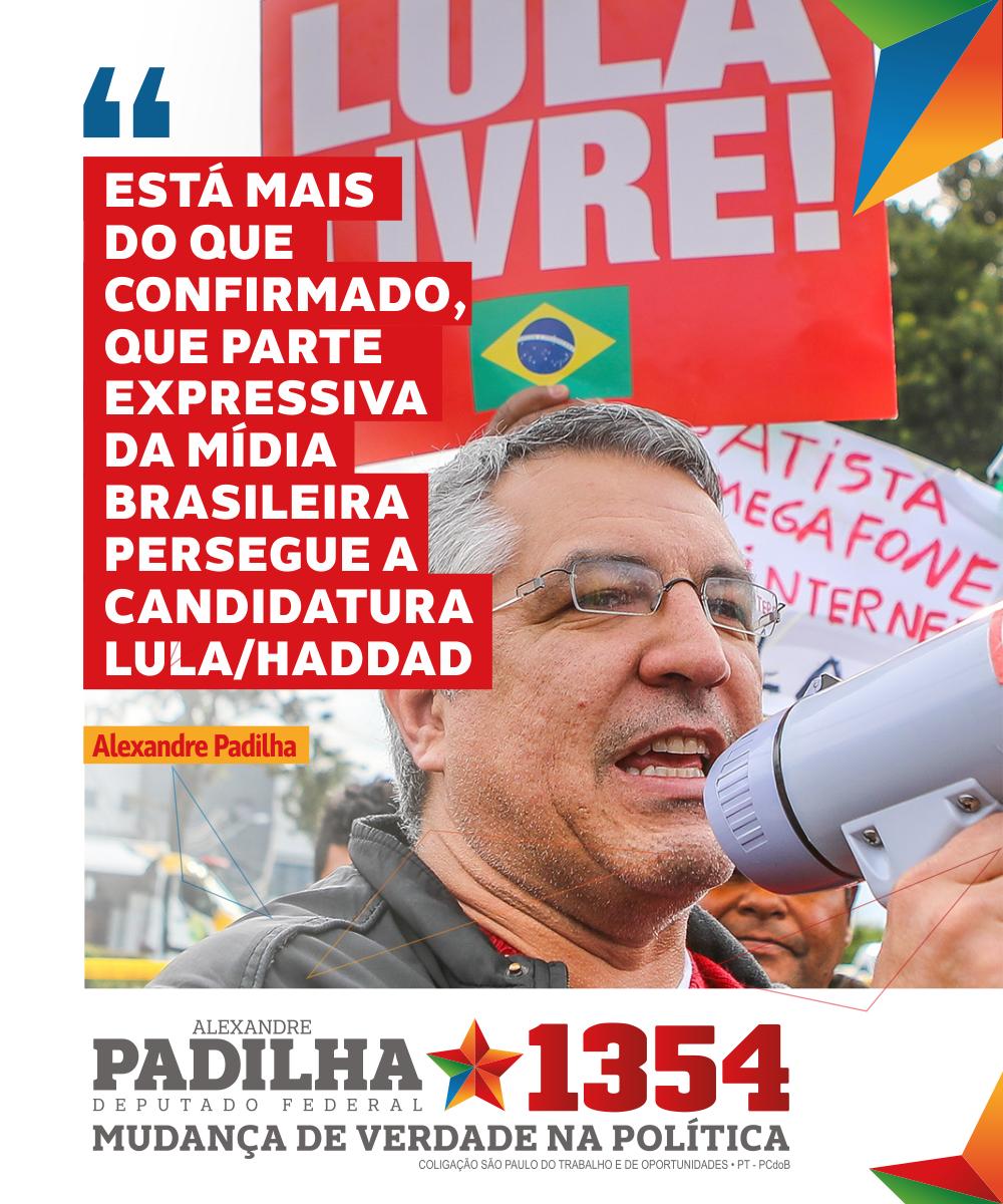 O programa @rodaviva me excluiu hoje do debate desta noite, com os representantes da saúde de cada campanha presidencial. Mais uma vez, a candidatura de Lula e Haddad foi prejudicada. #RodaViva #MudançaDeVerdade