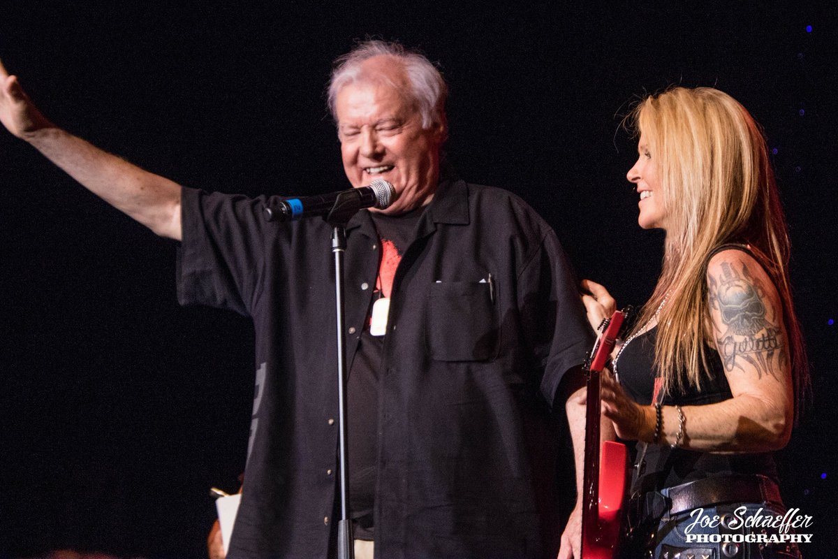 We brought the legendary Gary Kahler on stage in Vegas to celebrate his birthday! Happy Birthday Gary. Still sexy at 80 years old. What would the music world be like without these bad ass guitar-tremolo units?! Thank you Gary Kahler & @KahlerUSA! - Lita Photo: @joeschaef