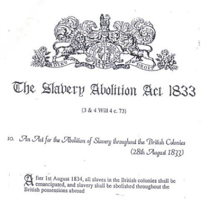 Image result for Royal Assent on August 28, 1833 abolishing slavery