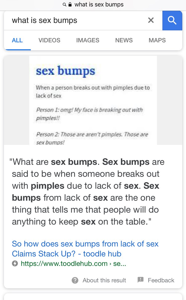 Bumps face sex on the I Have