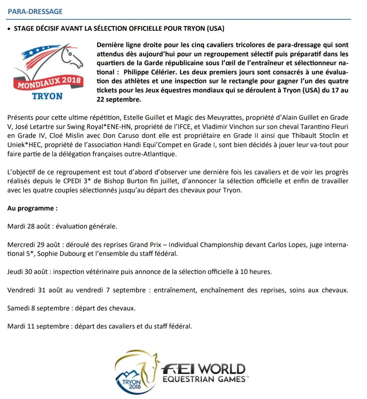 Tryon2018 C est parti pour le stage de préparation des para-dresseurs  avant  Tryon 2018  paradressage cc  FFEquitationpic.twitter.com bqoIA00clu dfef59f640f