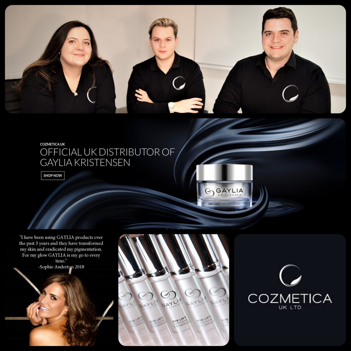 A huge welcome to #Cozmetica UK; a dynamic #brands #distribution partner who are dedicated to better-servicing the needs of #luxury #spas, #aesthetics #clinics, #salons & #premium #retailers with unique & niche cosmetic products including #GayliaKristensen