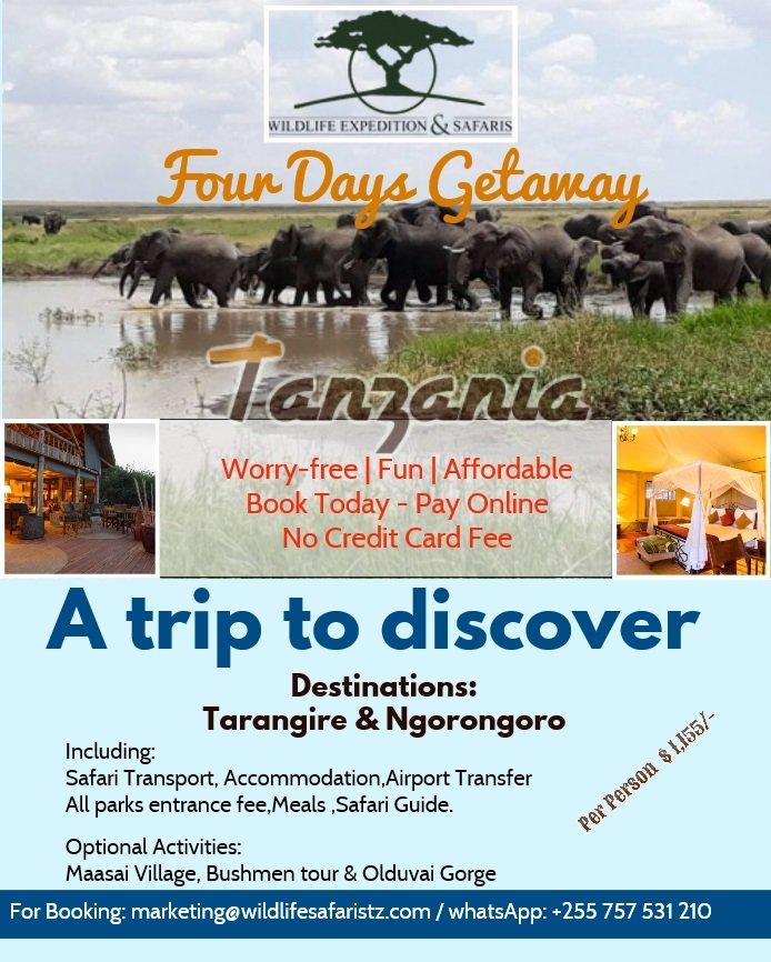 #Travellingtanzania, #lifeistotravel, #wildlifetanzania,#wildebeest,  Book Now: marketing@wildlifesafaristz.com, http://www.wildlifesafaristz.com A Trip To Discover !pic.twitter.com/aRwIoD5WlB