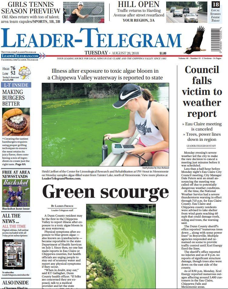 Leader Telegram On Twitter In Today S L T Green Algae In Dunn
